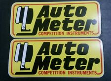 """OFFICIAL SIZE AUTO METER Nascar Racing Decals / Stickers 9"""" X 3.75"""" Lot Of 2"""