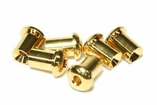 Gold Large Top Mount String Ferrules for guitars.  Set of 6