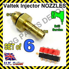 LPG GPL AUTOGAS Valtek Matrix Injectors Calibration Nozzle D6 SET of 6 1.5mm inD