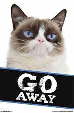 GRUMPY CAT - GO AWAY POSTER - 22x34 CUTE FUNNY 14303