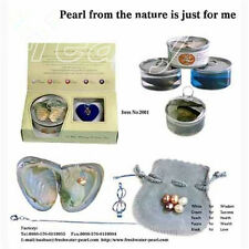 A Set White Box Love Wish Pearl Necklace Set Oyster Drop Pendant Xmas Gift