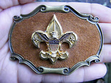 Vtg BOY SCOUTS Belt Buckle 1978 Raintree BSA Scouting NOAC Badge Brass RARE VG++