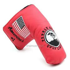 USA Flag Red Golf Blade Putter Cover Headcover for Scotty Cameron Taylormade