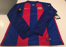 Team FC Barcelona Authentic Long Sleeves Jersey Blue Red Soccer Small Football