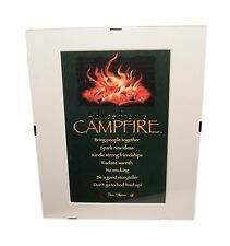 """Advice from a Campfire Inspirational 8"""" x 10"""" Matted Picture Art w/ Clip Frame"""