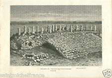 Ake Archaeological site Maya civilization Mexique Mexico GRAVURE OLD PRINT 1884