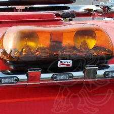 "Britax Aerolite 0.4m 16"" Emergency Recovery Flashing Amber Beacon LightBar 12v"