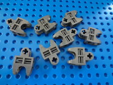 LEGO Dark Bluish Gray Technic, Axle Connector 2 x 3 with Ball Socket, Lot of 8