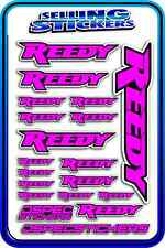 REEDY RC STICKERS DRIFT TOURING MOTOR ESC BATTERY 1/12 1/10 RACE PINK BLACK AE