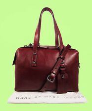 Marc Jacobs Connected Red Canyon Leather Bowling Satchel/Shoulder Bag Msrp $548