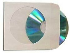 10000 pcs White CD DVD Paper Sleeves Envelopes with Flap and Clear Window
