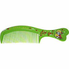 Green Fine Tooth Small Pocket Handbag Hair Comb Toddlers Childrens Kids Girls