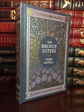 Bronte Sisters New Leather Bound Gift Jane Eyre & Wuthering Heights & Agnes Grey