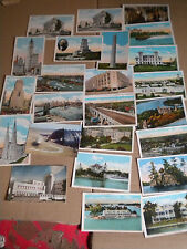 Collection of Vintage USA Post Cards by Tichnor , hallam & vesty , summit , etc