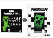 JINX MINCRAFT VIDEO GAME CREEPER DECALS BLACK WHITE 2 SETS STICKER NEW FREE SHIP