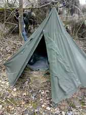 Polish communist Army 2 Ponchos with poles & pegs 2 person military tent S/Z 1