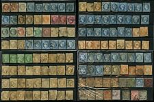 FRANCE 1862-1902 EARLY MIXED LOT + FAULTS...140 stamps