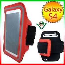 Armband fascia braccio Sport per Samsung Galaxy i9505 S4 S3 i9300 custodia ROSSO