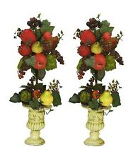 "TWO 27"" Artificial Mixed Fruit Topiary Pre-potted"