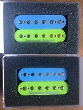 Seymour Duncan SH-4 JB SH-2n Jazz Humbucker Pickup Set Zebra Light Blue/Green