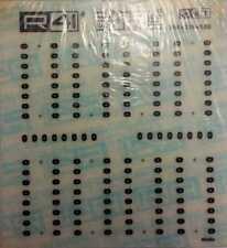 R41 C677 FOGLIO 12 X 12,5 cm TRASFERIBILI per INTEGRATI 2,54 X 0,76 X 5,08