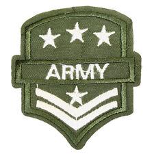 Textildruck Aufbügler Patch bügeln Applikation Bügelbild Army grün 2017.0080/LH