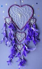 DREAM CATCHER PURPLE HEART modern stylish dreamcatcher LARGE good quality