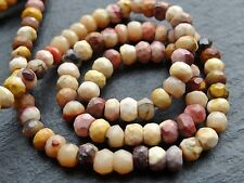 "HAND CUT PALE MOOKAITE RONDELLES, 3.5mm / 4.5mm, 13"", 100 beads"