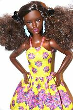 PRETTY AFRICAN AMERICAN AA BLACK BARBIE DOLL FASHIONISTAS with CURLY HAIR