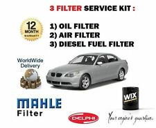 FOR BMW 525D 530D DIESEL 2003- NEW  SERVICE KIT OIL AIR FUEL  ( 3 ) FILTER KIT