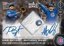 2016 Topps Now Kris Bryant and Rizzo Dual Auto Relic Game Used Base #663-B /99