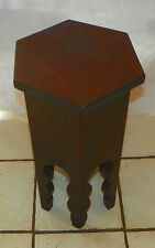 Solid Walnut Arts & Crafts Hexagon Plant Stand  (PS192)