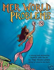 Mer World Problems Adult Colouring Book Hipster Mermaid Sea Water Quirky Cool