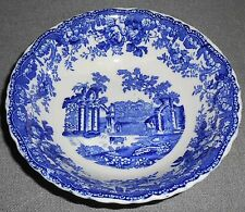Masons FOUNTAINS Blue/White COUPE CEREAL/SOUP BOWL Ironstone ENGLAND