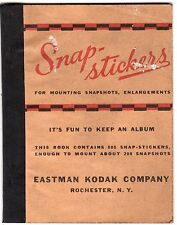 Snap-Stickers Eastman Kodak Company Rochester NY Fun to Keep an Album Mounting!!
