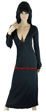 Morticia Addams Elvira Witch Vampire Vampiress Fancy Dress Costume - M 8 10 12