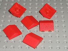 6 x LEGO red slope brick 3300 / Set 9265 364 6337 352 351 545 350 5528 356 114..