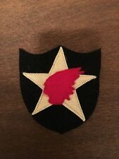 WWI US Army 2nd Division Artillery patch wool