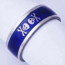 Cool Unisex White Gold Plated Temperature color Changing Ring Size 11