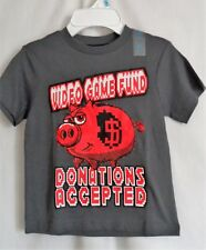 BOYS M 8 GRAY VIDEO GAME FUND DONATIONS ACCEPTED SHIRT NWT THE CHILDRENS PLACE
