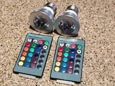 2 x 9W E27 150LM Color LED RGB Magic Light Bulb with Wireless Remote Control