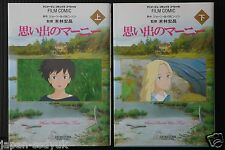 JAPAN Film Comic When Marnie Was There / Omoide no Marnie 1+2 Complete Set