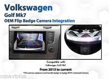 VW GOLF MK7 CAMERA solution BACKUP REVERSE ORIGINAL GENUINE TYPE rear view