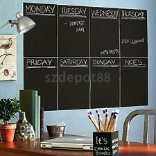 8 Sheet A4 Blackboard Chalkboard Wall Stickers Removable Mural Decal 30x20cm