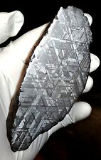 AMAZING 605 GM. MUONIONALUSTA ETCHED METEORITE END CUT