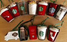 12 STARBUCKS 2016 Ornament Lot Hawaii CA Truck Polar Bear French Press Sweater