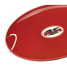 "Classic Flexible Flyer Steel Saucer 26"" Red Winter Snow Sled Super Slick Durable"