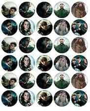 30 x Harry Potter Edible Cupcake Toppers Birthday Wafer Paper Fairy Cake Topper