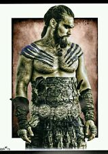 GAMES OF THRONES RARE KHAL DRAGO LIMITED EDITION ART COA AND AUTOGRAPHED