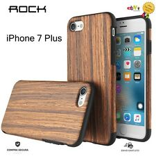 FUNDA CARCASA ORIGINAL ROCK ORIGIN SERIES DE MADERA Y SILICONA IPHONE 7 PLUS
